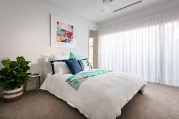 Small beach house - modern - Bedroom - Perth - David Wilkes Design