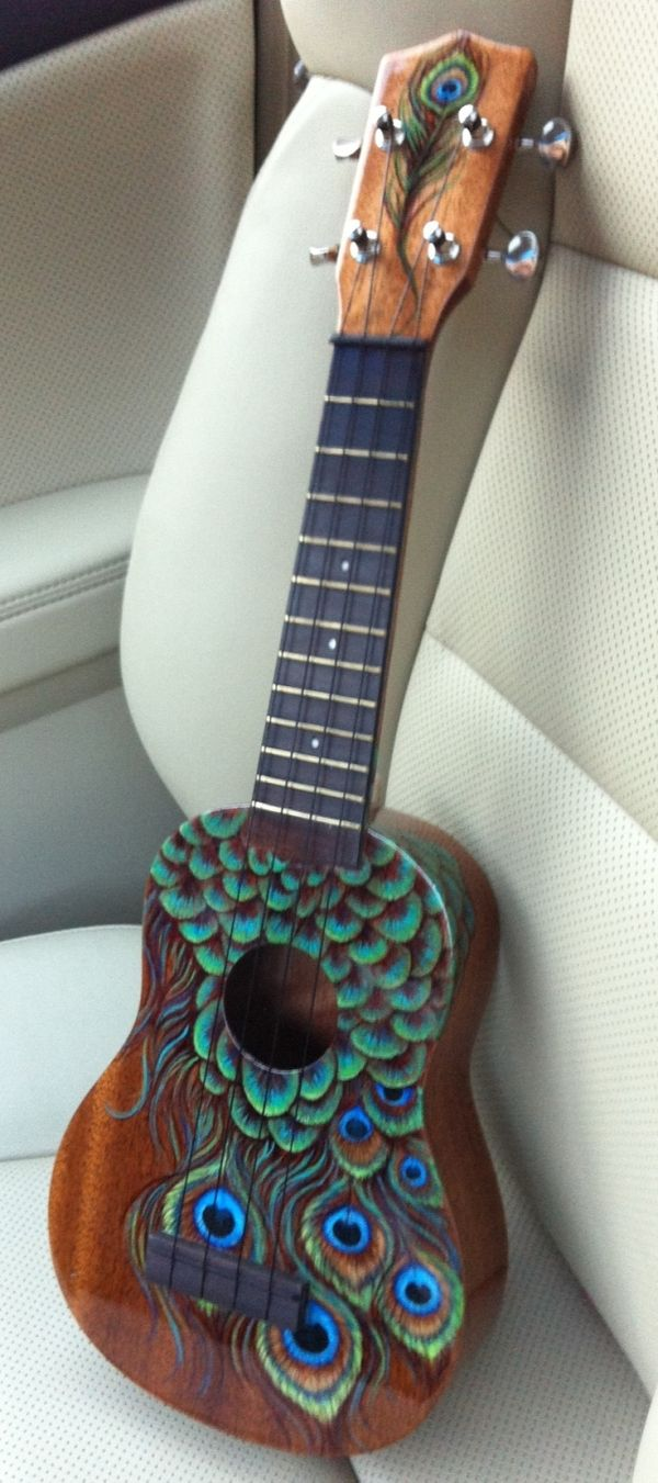 Hand painted Uke... It makes me HAPPY:) by Lostar Faith