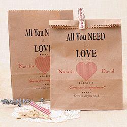 Bolsa kraft All you need is Love