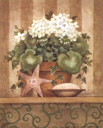Geranium and Shell art poster at ArtPosters.com