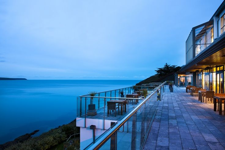 Cliff House Hotel Terrace overlooking Ardmore Bay
