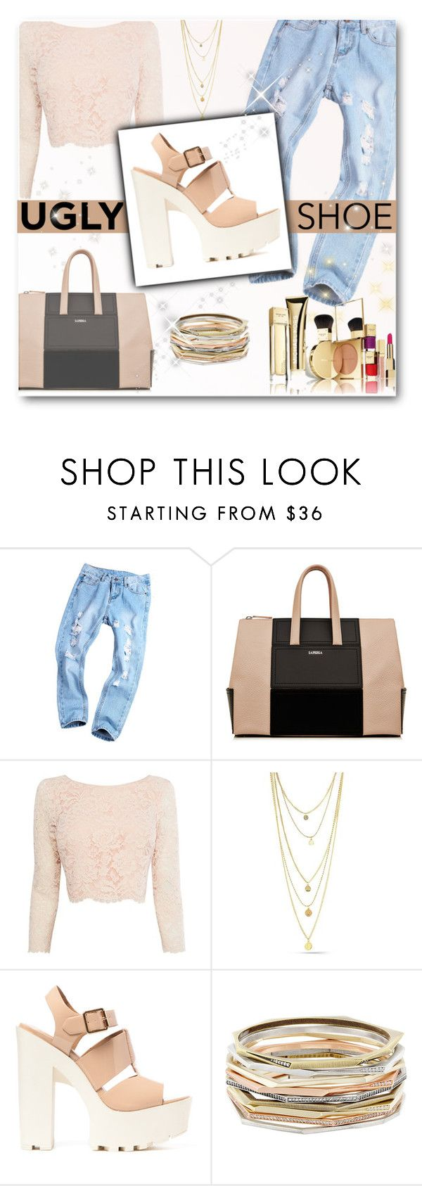 """""""Ugly (but Chic) Shoes"""" by matildiwinky ❤ liked on Polyvore featuring Coast and Kendra Scott"""