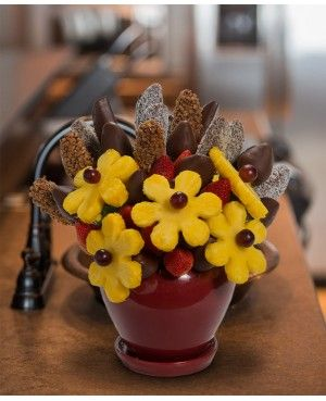 Just because Blossom scent free fruit bouquet are great for all occasions and make great gifts ideas or decorations from a proud Canadian Company. Great alternative to traditional flowers or fruit baskets