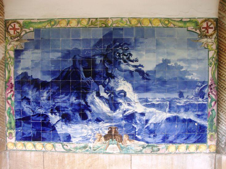 Buçaco, Palace Hotel [photo: António Pereira] #polychrome #neobaroque #azulejo #frame #collaborativetimeline