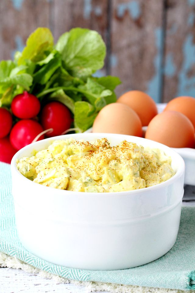 Lighten up your egg salad with this under-150 calorie version from @kimscravings. #protein #Myfitnesspal