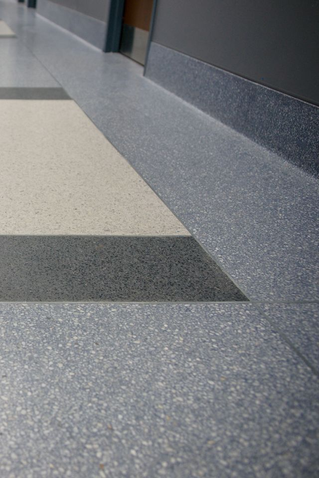 Terrazzo floor design at Prince William County Court | Doyle Dickerson Terrazzo #terrazzo