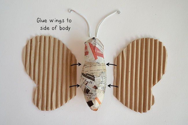 Paper Mache Crafts For Kids - Paper Mache Butterfly