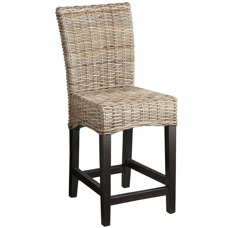 Kubu Counterstool $127.45 at Pier One - shown in gray rattan with espresso legs