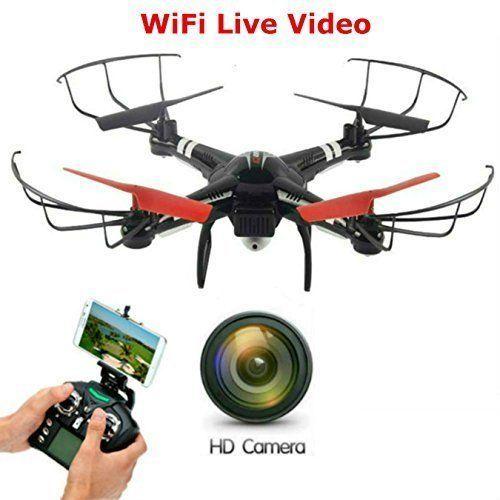 Drone Quadcopter FPV WiFi Camera One Key Return Barometer Altitude Hold Control  #DroneQuadcopterFPVWiFiCamera