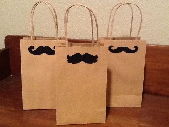 Kraft Paper Gift Bags  Mustache gift wrap by VintageSouthernCross, $1.95