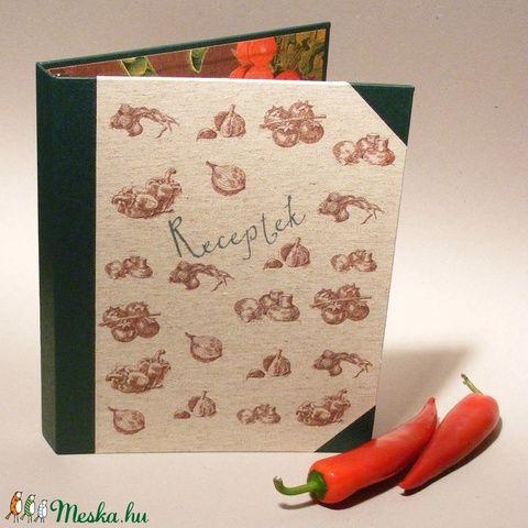 Zöldséges konyhai mappa, receptgyűjtő, iratgyűjtő konyhába, receptes dosszié A4-es papírokhoz (enciboltja) - Meska.hu