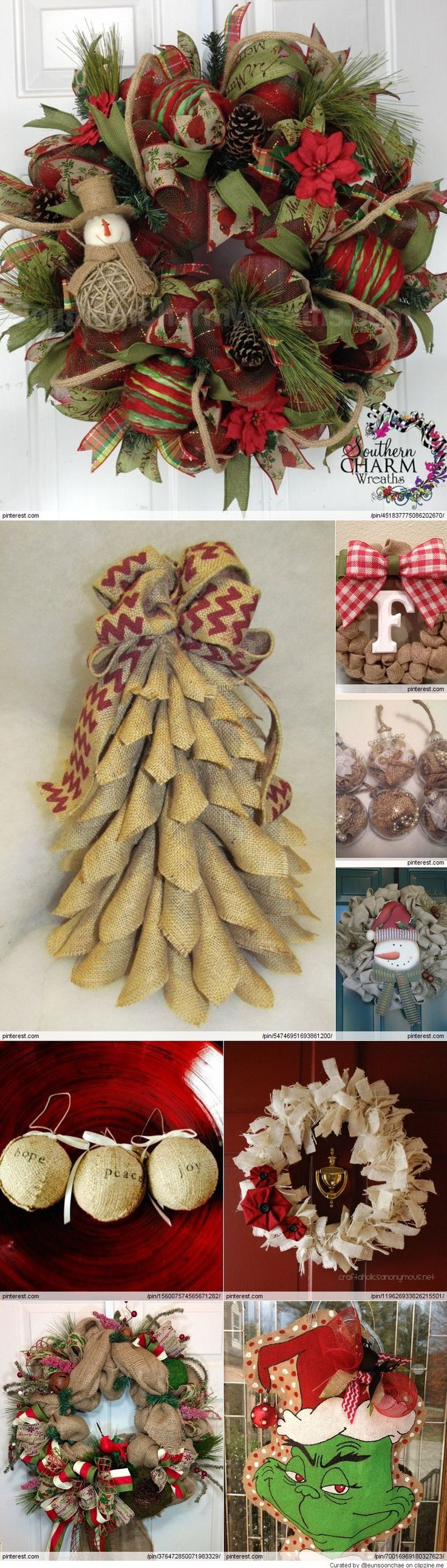 Christmas tree decorating with burlap and deco mesh craft outlet - Burlap Christmas