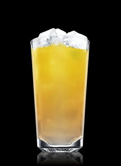 Absolut Apeach Top Floor - Fill a chilled highball glass with ice cubes. Add Absolut Apeach and strawberry syrup. Top up with passionfruit juice. Garnish with lime. 1 Part Absolut Apeach, 1 Dash Strawberry Syrup, Passionfruit Juice, 1 Peel Lime