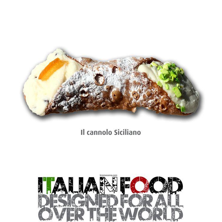Italian Food - designed for All Over the World - il Cannolo Siciliano  #dietamediterranea #foodesign #masterfoodesign #iedroma #design #food #drink #kromosoma #francescosubioli #cibo #beverage