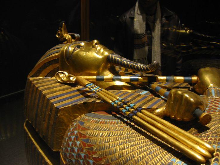 The famed King Tutankhamen  sarcophagus, Egyptian Museum, Cairo, Egypt. Photo John Spier