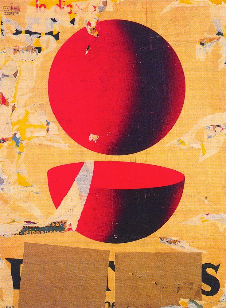 Mimmo Rotella, Il punto e mezzo (The point and a half), 1962