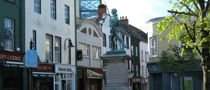The statue of The Pikeman, Bull Ring, Wexford Town, Co. Wexford, Ireland