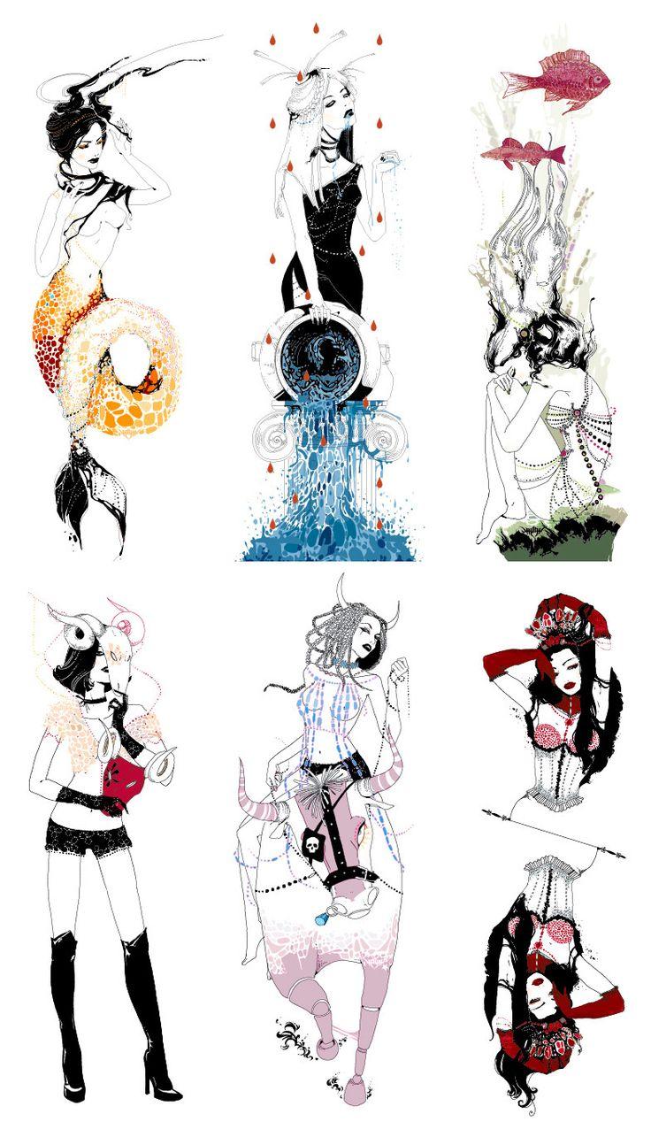 Capricorn, Aquarius, Pisces, Aries, Taurus, and Gemini