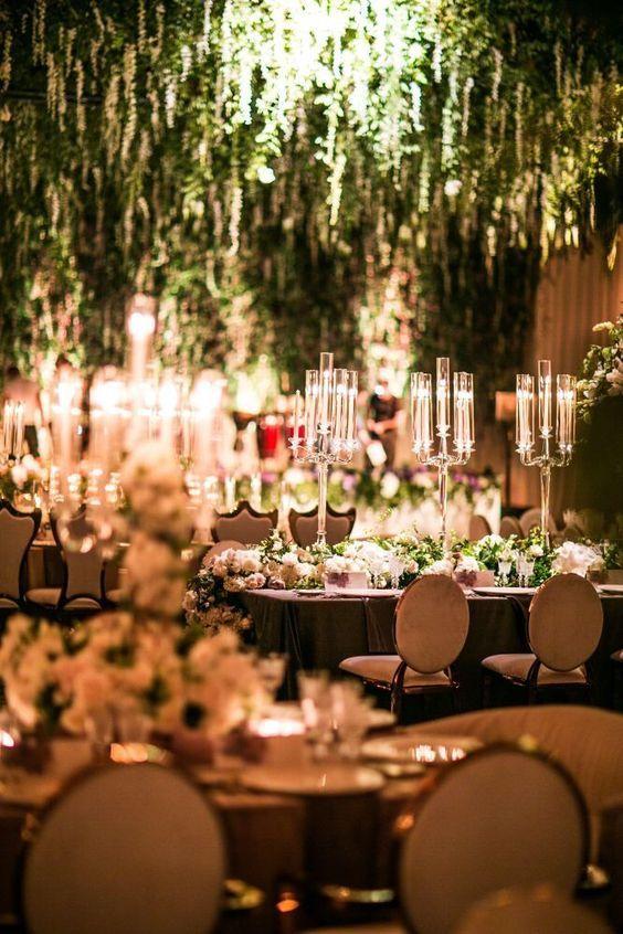 Glamorously Elegant Las Vegas Wedding From Samuel Lippke Studios Reception Decor