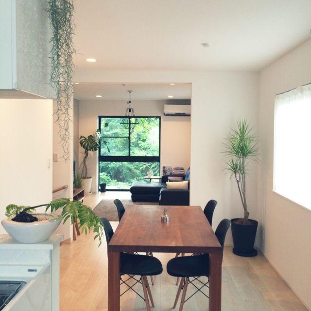 hyangさんの、IKEA,賃貸テラスハウス,多肉植物,観葉植物,植物,賃貸,シンプルが好き,部屋全体,のお部屋写真
