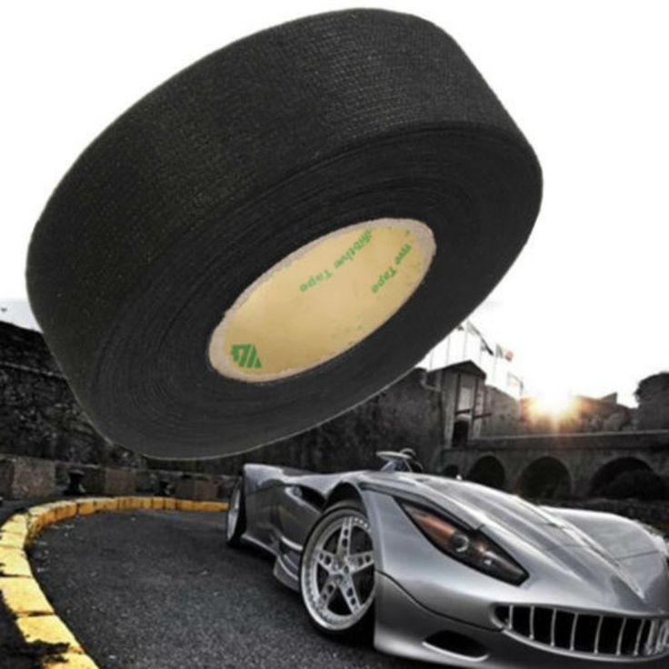 25mm x 15 m Adesivo Flanella Panno del Tessuto del Nastro Cavo del Cablaggio elettrico Per Auto Auto