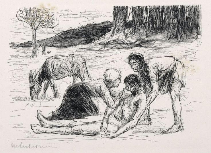 """Max Liebermann """"Der barmherzige Samariter"""". Um 1911."""