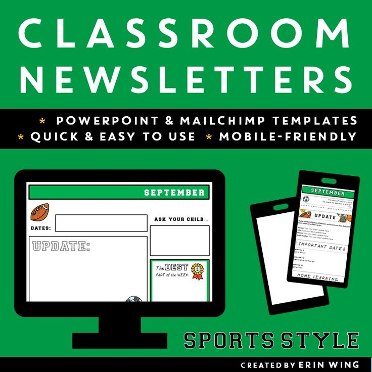 The  Best Classroom Newsletter Template Ideas On