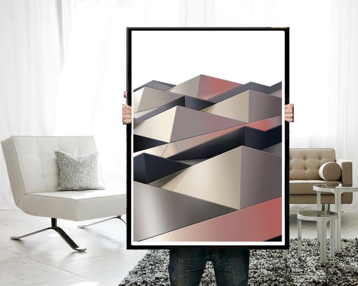 Modern poster for Scandinavian interior design
