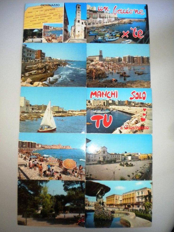 LOTTO 10 CARTOLINE GIOVINAZZO (BA) - ANNI '80 - NON VIAGGIATE