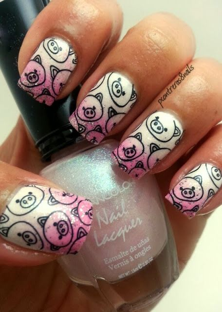 Cute Pig Nail Art Designs : Ideas about pig nails on pinterest nail art