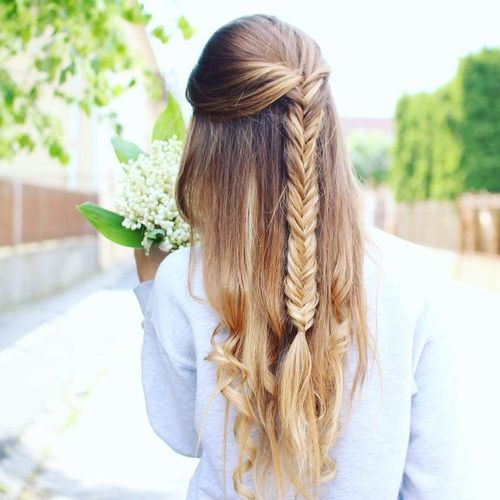 braid, summer, and eyebrow image