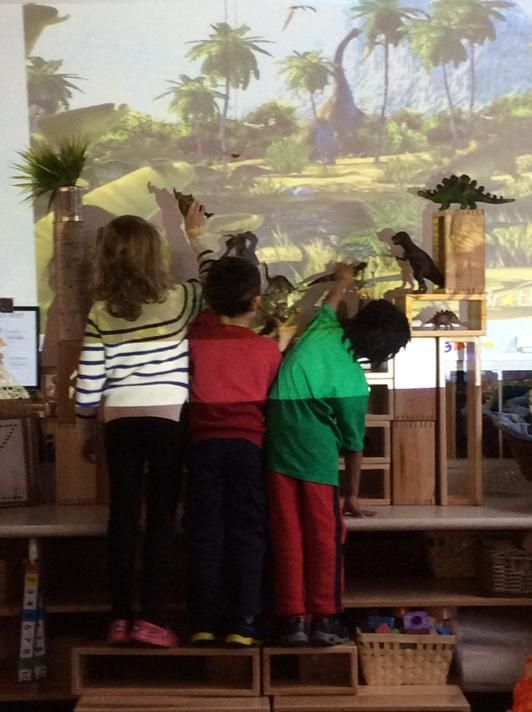 Amazing idea! Project a landscape on the wall to add to their dramatic play.