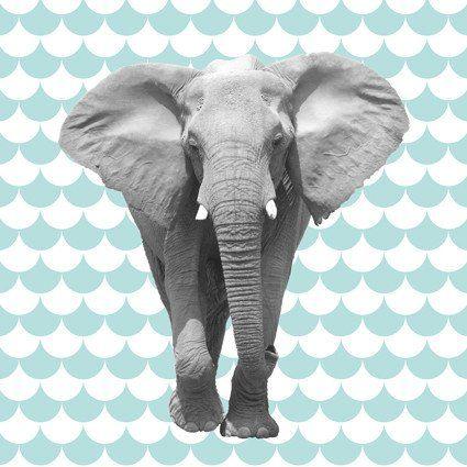 Elephant paneelstof tricot - Bambi Blauw-Studio Saartje - online winkel met designer-, retro- en vintage stoffen en exclusieve patronen