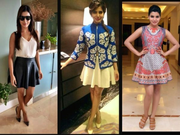 WOW ! Samantha Ruth Prabhu hottest looks in dresses ! She is undoubtedly fashionable in every way....