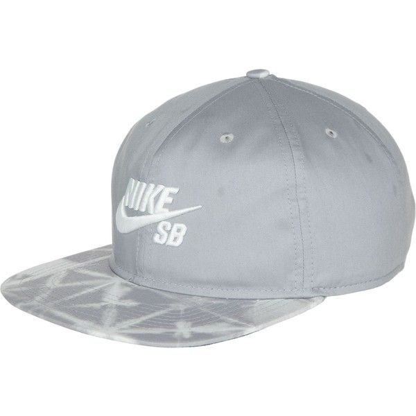 Nike SB Seasonal Snapback Hat ($19) ❤ liked on Polyvore featuring accessories, hats, sports snapback hats, pattern hats, nike snapback, nike and cotton hat
