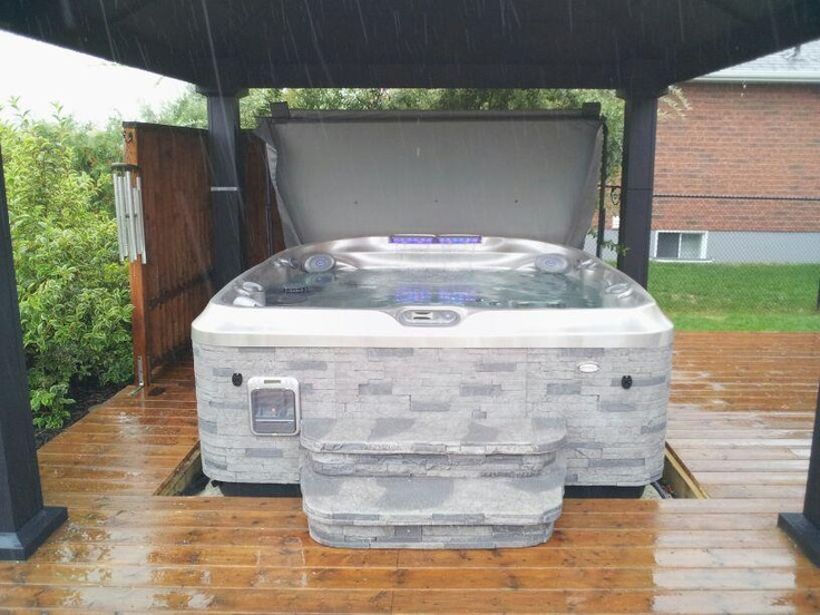 13 best hot tub installation ideas images on pinterest. Black Bedroom Furniture Sets. Home Design Ideas
