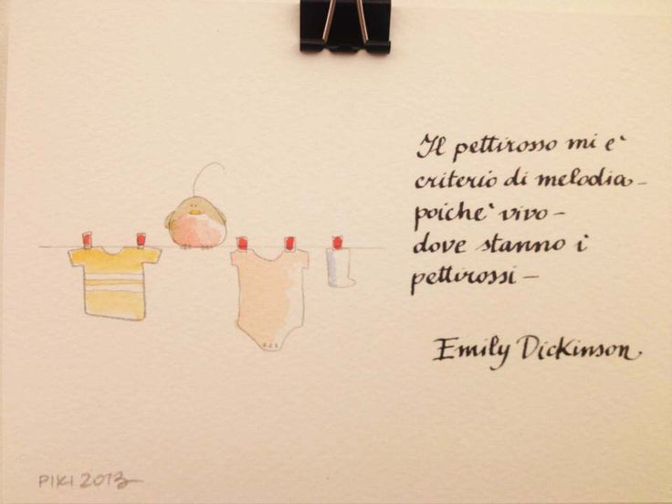 #Robin #Emily #Dickinson #PIKI #Illustration #watercolors #ink #pencil