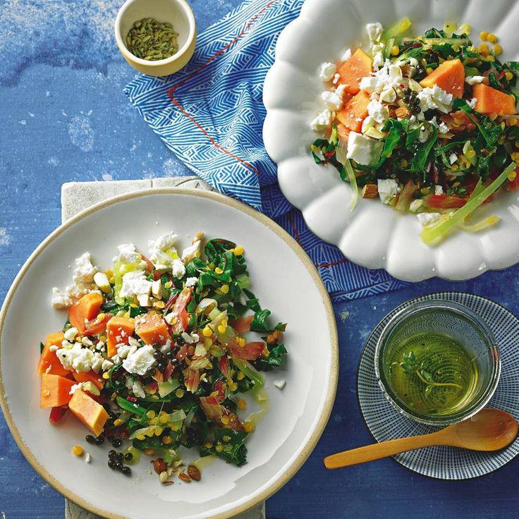 Papaya-Linsen-Salat