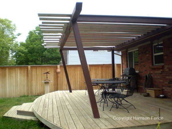 deck wider than roof