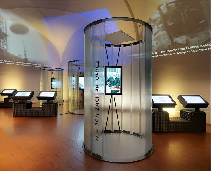 """The destruction and reconstruction of the Royal Castle in Warsaw"" is one of the eight permanent exhibitions at the Royal Castle in Warsaw, Poland. The space of this multimedia exhibition was arranged in an interesting and unconventional way, among others, through a semi-circular glass partitions made of toughened profiled glass Pilkington Profilit™ Slim Line."