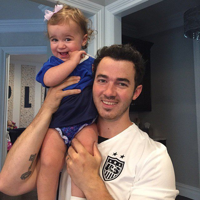 Kevin Jonas and His Baby Girl Pose For a Sweet Game-Day Snap