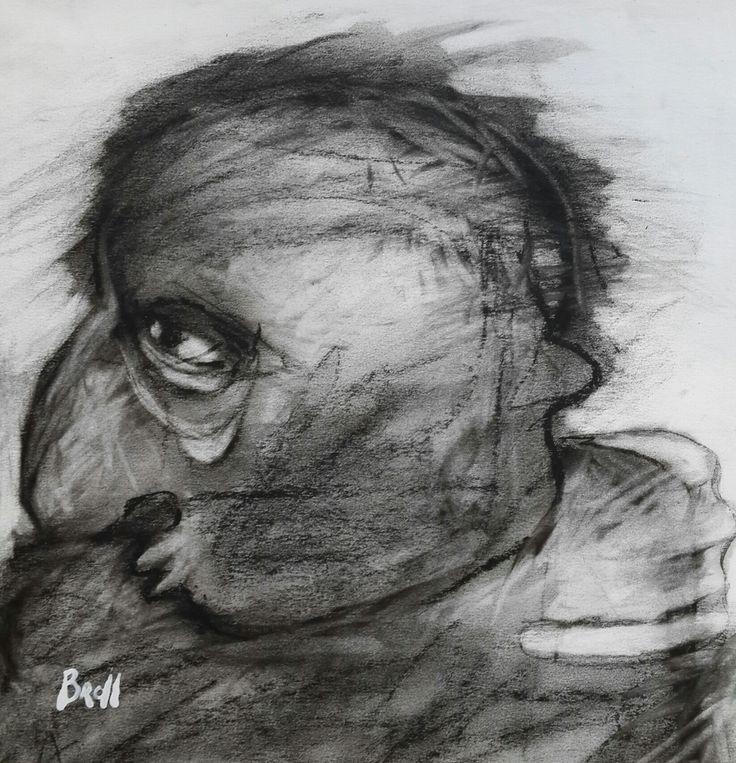 TERRI BROLL / charcoal on paper 2014