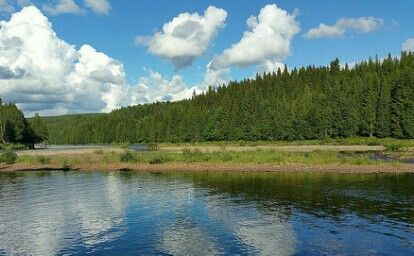 Part of the Trysil river - Norway