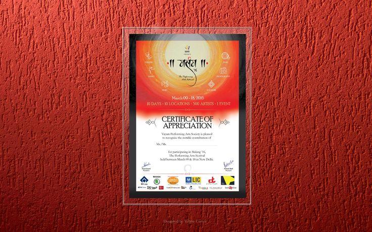 Malang : Certificate