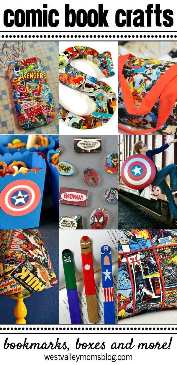 Fun Comic Book Crafts | http://westvalleymomsblog.com