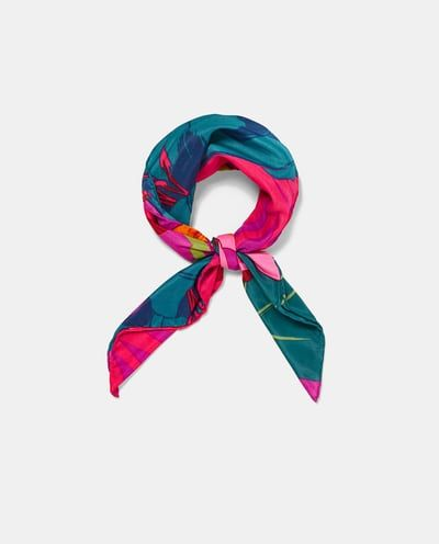 Image 2 of FLORAL SCARF from Zara