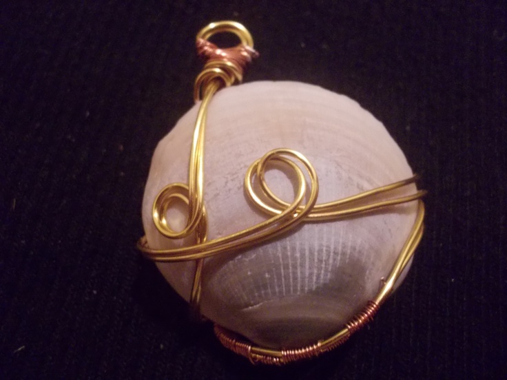 Wire wrapped shell.