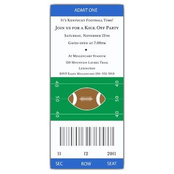 free printable football invitation templates | football ticket invitation image search results