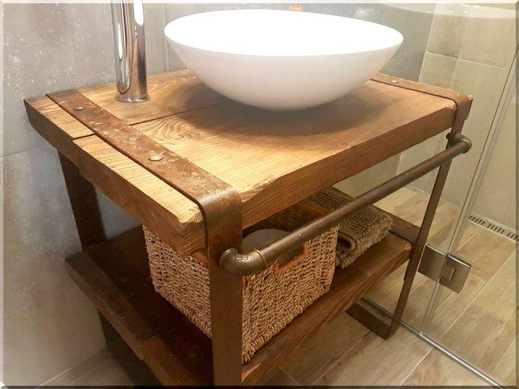 Loft stílusú fürdőszobabútor, loft design