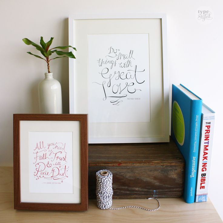 "Limited edition ""Pixie Dust"" and ""Great Love"" prints designed exclusively for Inspirationery by Type Styled.   50% of profits from the sale of our stationery is donated to empowering women and girls through education and leadership programs.   Available for pre-order from pozi.be/inspirationery.  Frame sold seperately through Ikea.   #inspirationery # stationery #inspirational #inspirationalquotes #quotes #socialenterprise #socialgood #empowering #women #girls #education  #christmaspresents"